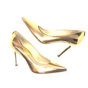 Michael Kors Gold Lame Pumps!!!!!
